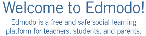 Welcome to Edmodo! Edmodo is a free and safe social learning platform for teachers, students, and parents.